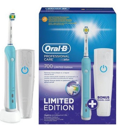 Oral-B Professional Care 700 White elektrline hambahari + reisikarp