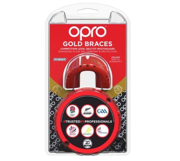 Opro hambakaitsmed Gold Braces- Red