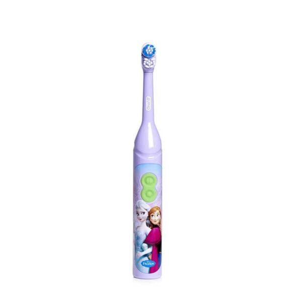 Oral-B Stages Power Frozen elektriline hambahari lastele 3+ a, patareidega (Princess Elsa & Anna)