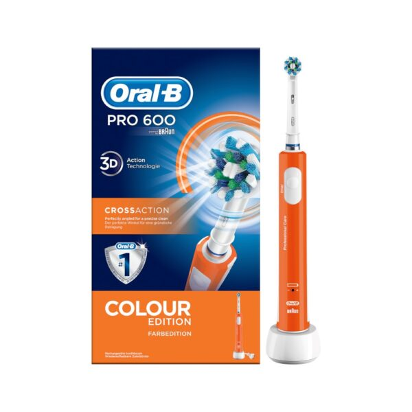 Oral-B PRO 600 Cross Action elektriline hambahari (oranž)
