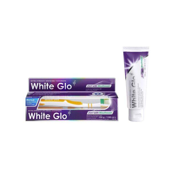 White Glo 2 in1 valgendav hambapasta suuveega 100 ml