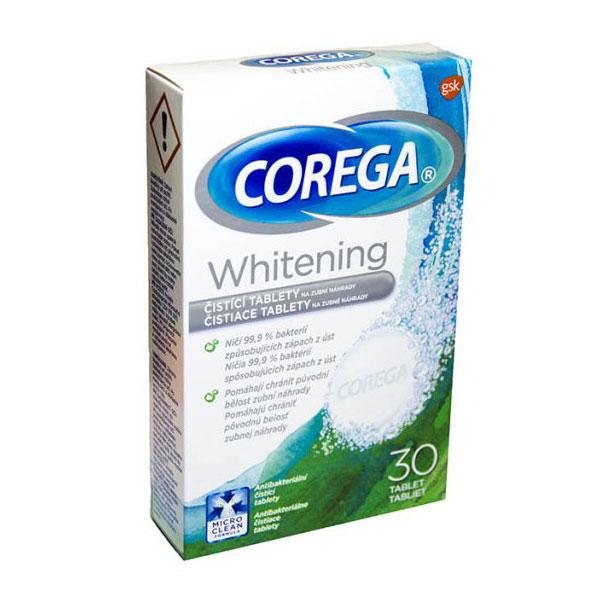 Corega tabletid proteeside puhastuseks 30tk (valgendav)