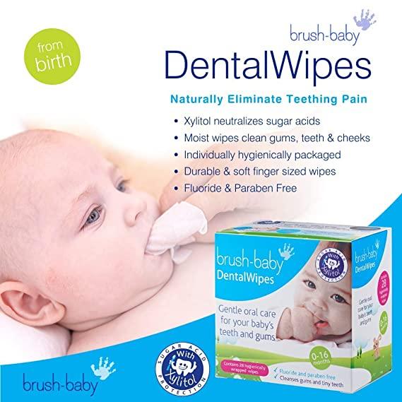 Brush-Baby TeethingWipes 0-16 kuud 20tk