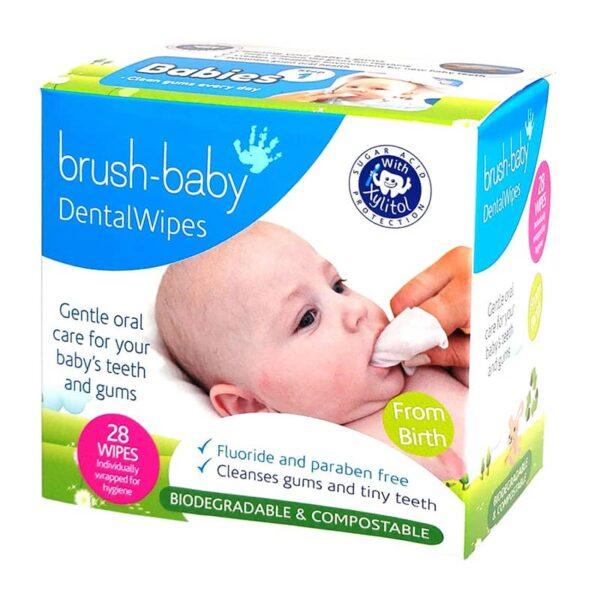 Brush-Baby Dentalwipes 28tk