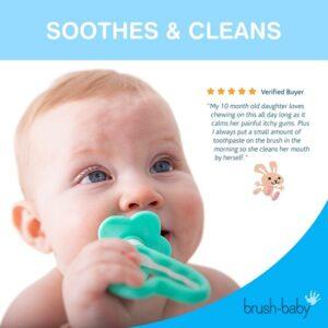 Brush-Baby My FirstBrush & Teether Set (0-18 kuud)