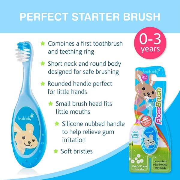 Brush-Baby FlossBrush 0-3a.