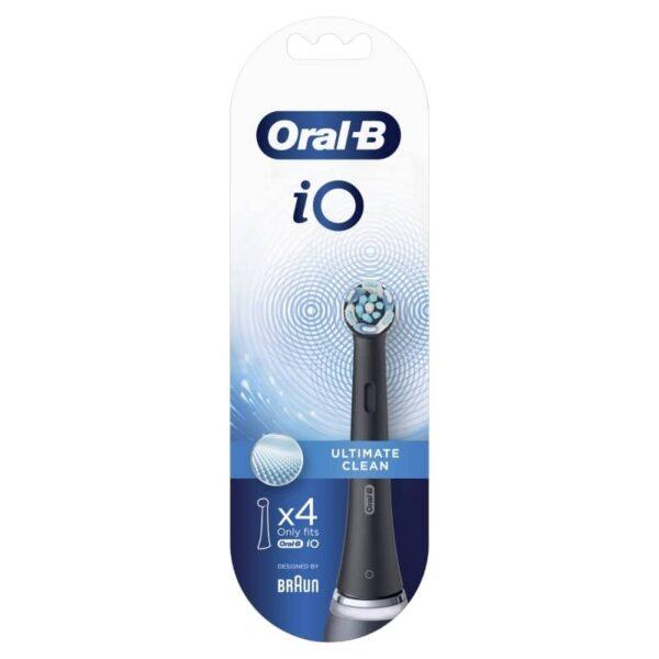 Oral-B iO CB-4 Ultimate Clean Black varuharjapead 4tk.